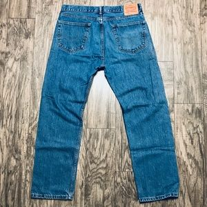 Levi's 505 Denim Jeans Straight Leg Reg Fit 36x32